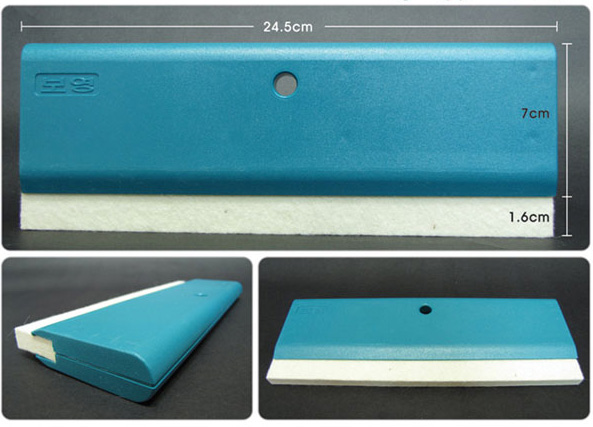 245mm FLEECE PROFESSIONAL SQUEEGEE Car Wrapping Decal Film Application Tool