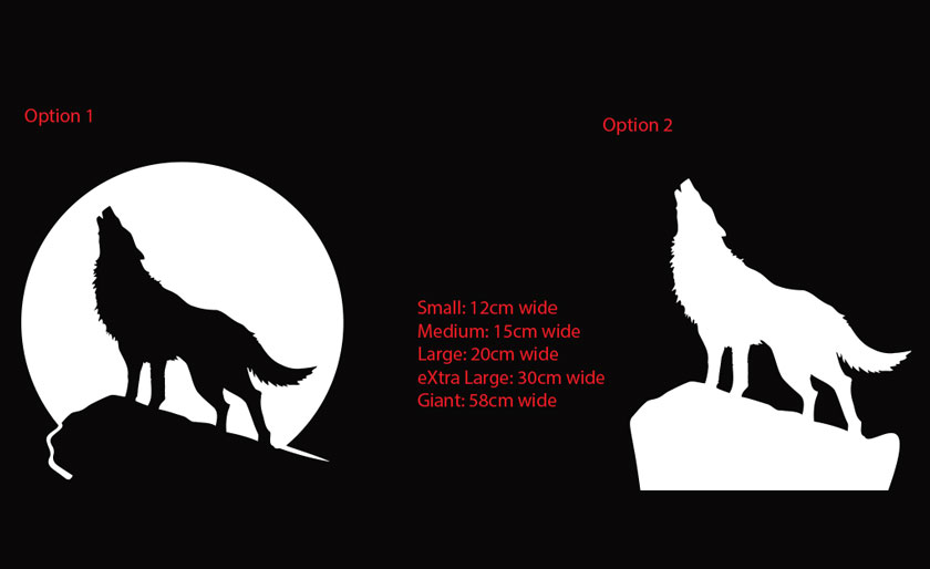 Howling Wolf at the Moon Car Window Sticker Vinyl Decal