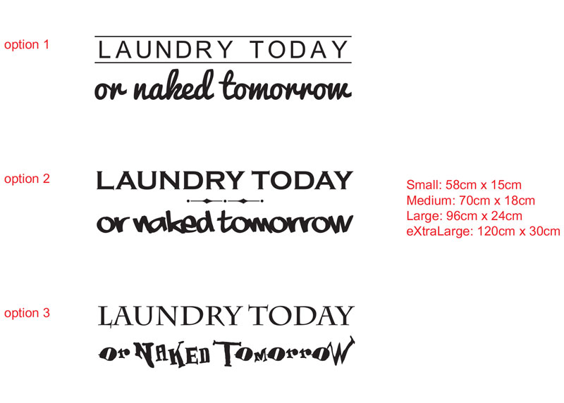 LAUNDRY TODAYor naked tomorrow