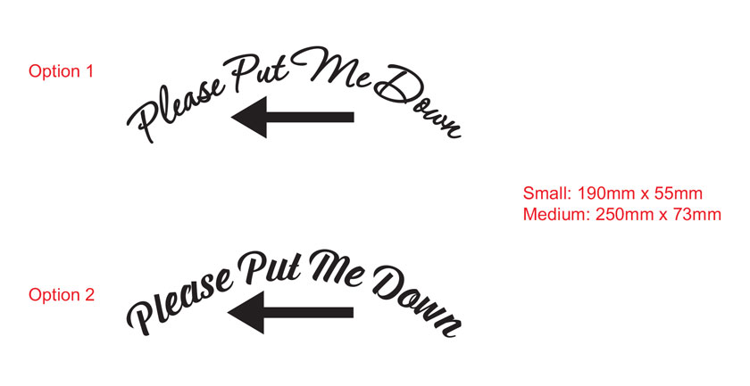 Please Put Me Down Funny Humorous Toilet Seat Shower Bathroom Sign Vinyl Decal Sticker