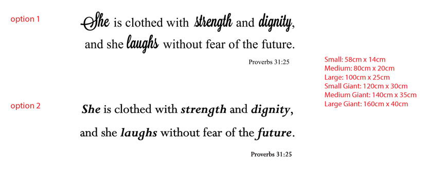 She is clothed with strength and dignity,and she laughs without fear of the future. Proverbs 31:25
