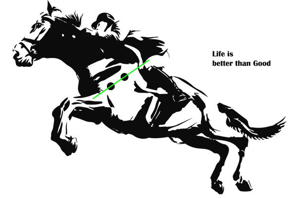 The gallery for eventing horse silhouette for Horse jumping tattoos
