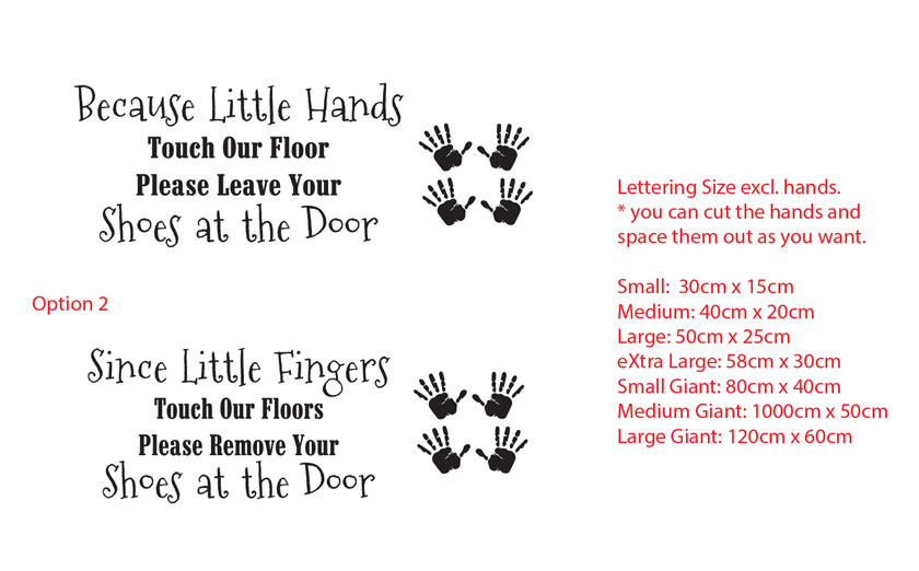 because little hands touch remove leave shoes door wall