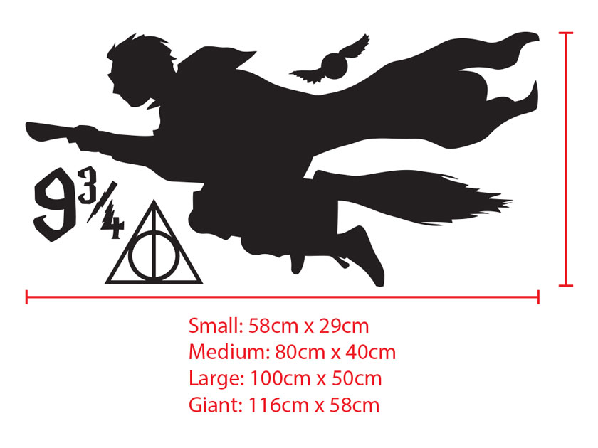 Harry Potter Theme Quidditch Flying Snitch Kid room Wall Sticker Decal Removable