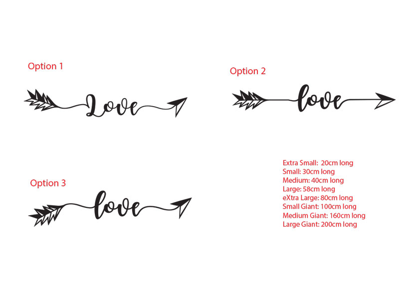 Love Arrow Boho Hipster Decal Wall Bedroom Decor Car Sticker