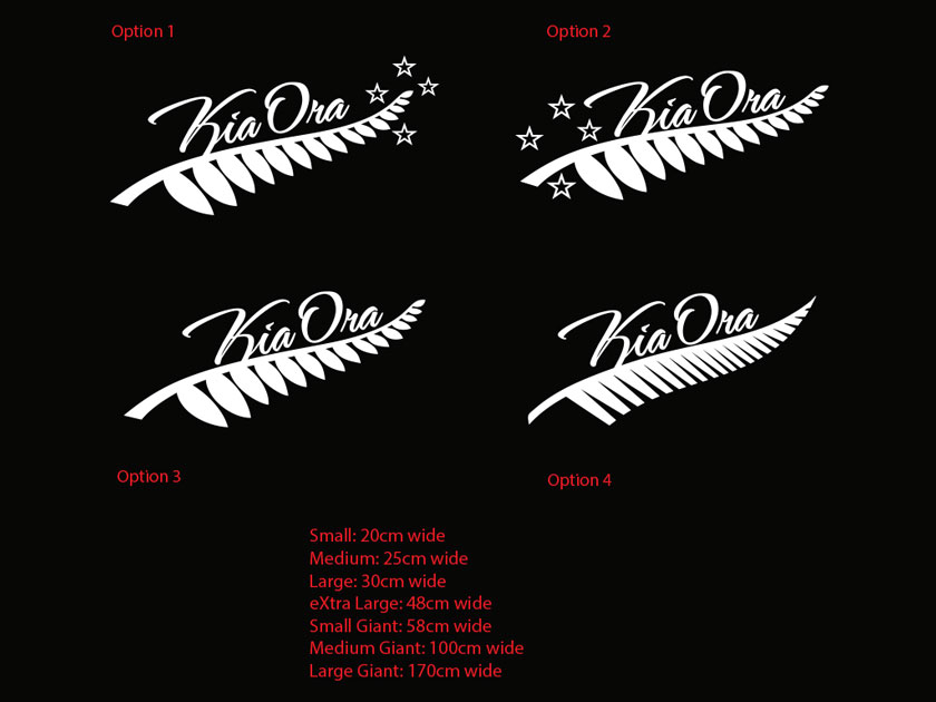 Silver Fern Kia Ora Sticker Decal New Zealand Maori Hi Car Boat Tattoo 10yrs+