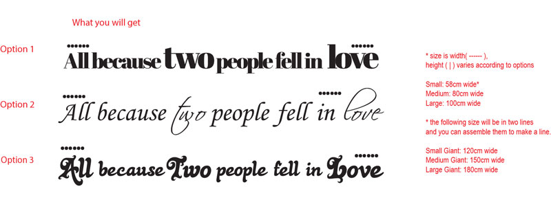 ...All because two people fell in love...