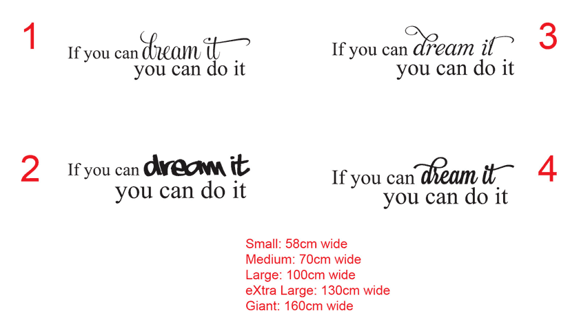 If you can dream it, you can do it.Inspirational quotevinyl decal sticker