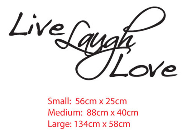 Live Laugh Love Quote Wall Decor Art Vinyl Decal Living room Sticker Removable