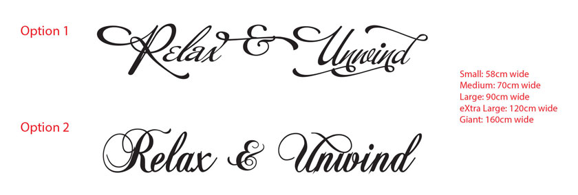 Relax & Unwind XMAS Year end Party Lettering Removable wall Vinyl sticker decall