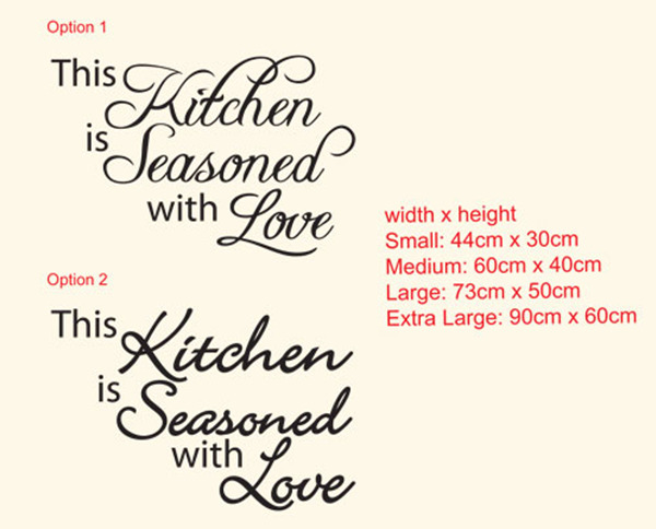 THIS KITCHEN IS SEASONED WITH LOVE<br> wall decal sticker
