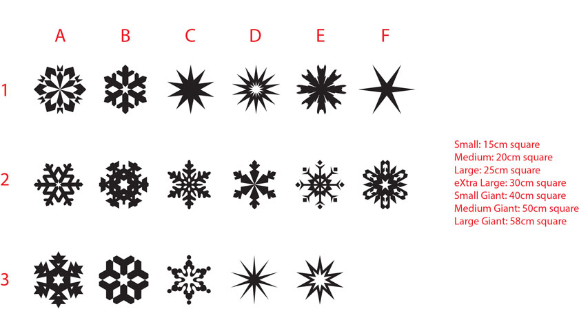 One Snowflake XMAS  Christ mas decorative Vinyl wall window shop sticker decal