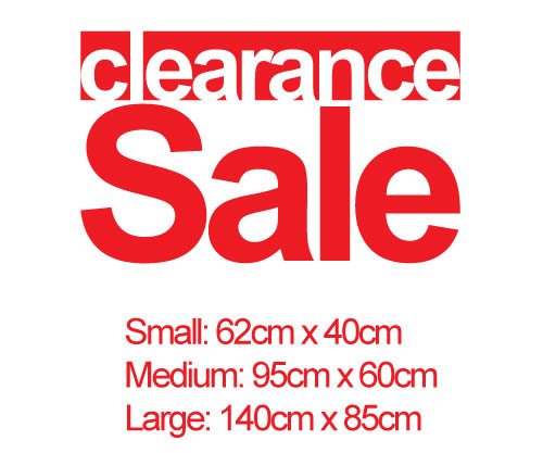 Clearance Sale Vinyl Decal Sticker Sign