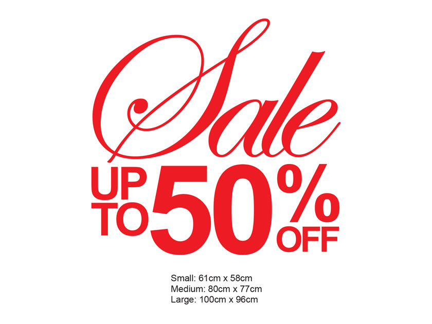 Sale up to xx%* off Vinyl Sign Decal / Removable