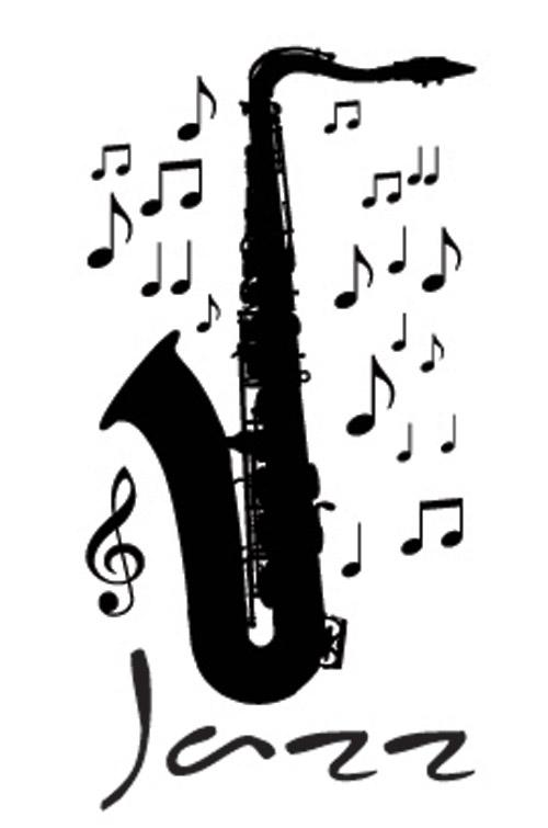 Jazz Music Saxophone Wall Art Decor Vinyl Decal Sticker Removable | eBay