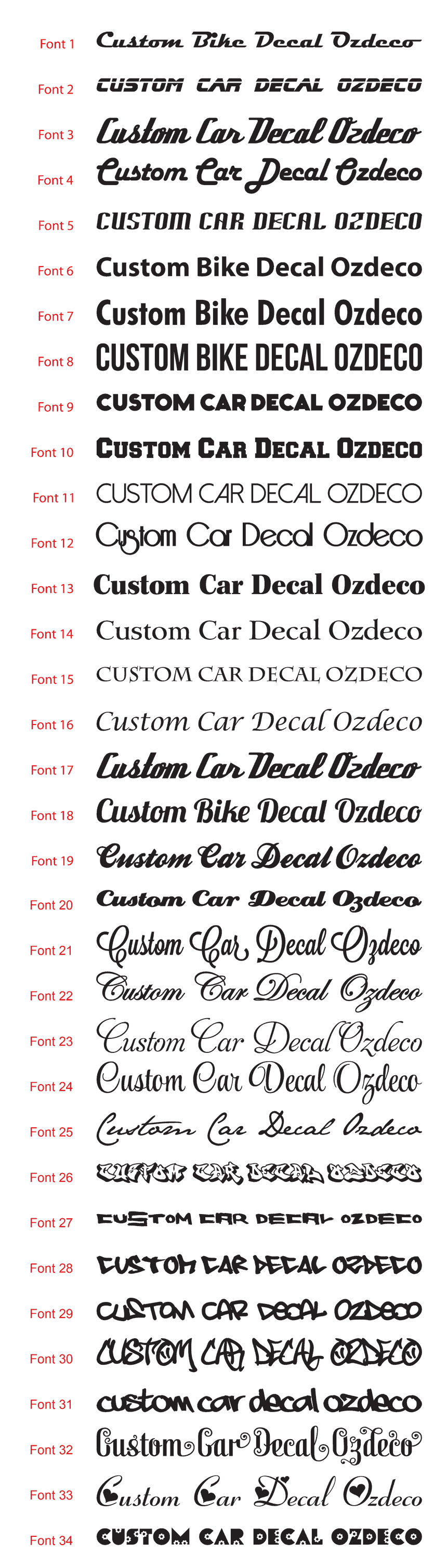 2 x Personalised Custom Text Vinyl Decal Stickers 10 Colours 2.5cm Pram Frame 5