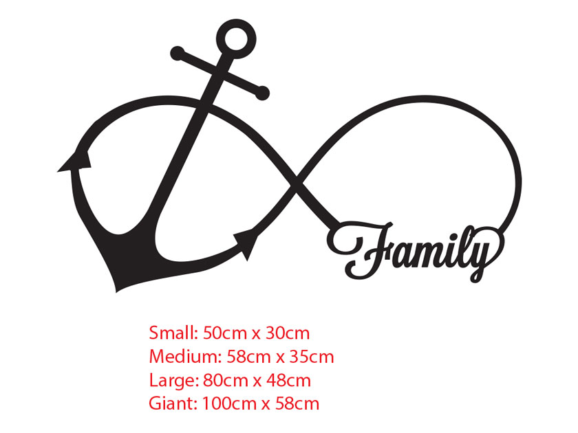 Family Anchor Infinity Love Symbol Wall Sticker Tattoo