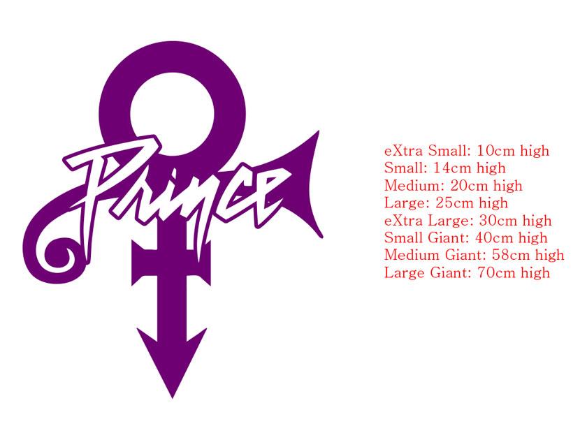 prince logo symbol car wall sticker decal ebay