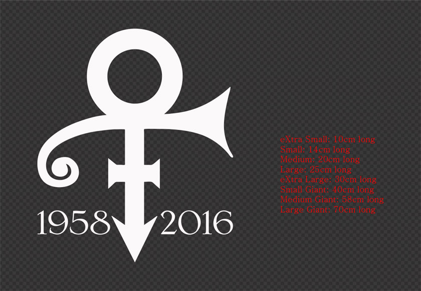 Prince logo symbol car wall sticker decal removable