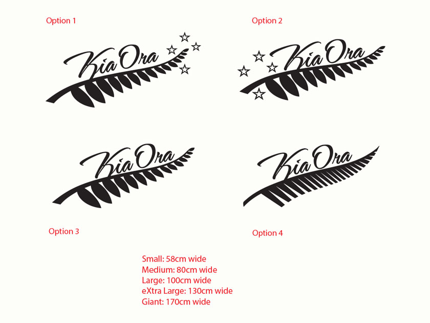 Silver Fern Kia Ora New Zealand Maori Wall Sticker Vinyl Decal EBay - Wall decals nzsilver fern kia ora new zealand maori wall sticker vinyl decal ebay