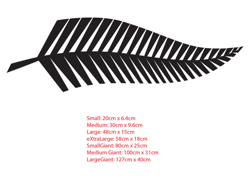 Silver fern new zealand symbol car boat tattoo vinyl decal sticker